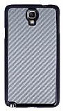 Eiroo Samsung N7500 Galaxy Note 3 Neo Karbon Fiber Metal G�r�n�ml� Gri K�l�f