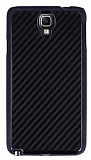 Eiroo Samsung N7500 Galaxy Note 3 Neo Karbon Fiber Metal G�r�n�ml� Siyah K�l�f