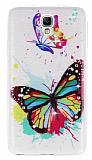 Samsung N7500 Galaxy Note 3 Neo Ta�l� Kelebek Ultra �nce Silikon K�l�f