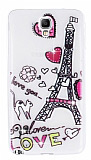 Samsung N7500 Galaxy Note 3 Neo Ta�l� Paris Love Ultra �nce Silikon K�l�f