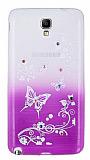 Samsung N7500 Galaxy Note 3 Neo Ta�l� Mor Kelebek Silikon K�l�f