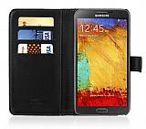 Samsung N9000 Galaxy Note 3 Siyah Cüzdanlı Kılıf