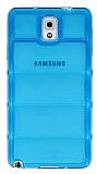 Samsung N9000 Galaxy Note 3 Bubble �effaf Mavi Silikon K�l�f