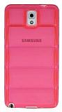 Samsung N9000 Galaxy Note 3 Bubble �effaf Pembe Silikon K�l�f