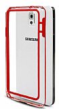 Samsung N9000 Galaxy Note 3 Bumper Çerçeve Kırmızı Kılıf