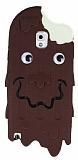 Samsung N9000 Galaxy Note 3 Çikolatalı Eriyen Dondurma Silikon Kılıf