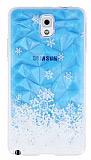 Samsung N9000 Galaxy Note 3 Kar Taneleri Kristal Rubber K�l�f