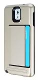 Samsung N9000 Galaxy Note 3 Kartlıklı Ultra Koruma Gold Kılıf
