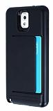 Samsung N9000 Galaxy Note 3 Kartlıklı Ultra Koruma Siyah Kılıf