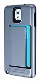 Samsung N9000 Galaxy Note 3 Kartl�kl� Ultra Koruma Silver K�l�f