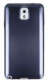 Samsung N9000 Galaxy Note 3 Metalik Siyah Silikon K�l�f