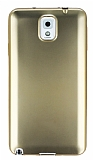 Samsung N9000 Galaxy Note 3 Metalik Gold Silikon K�l�f