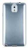 Samsung N9000 Galaxy Note 3 Metalik Silver Silikon K�l�f