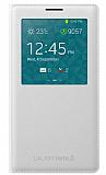 Samsung N9000 Galaxy Note 3 Orjinal Pencereli Beyaz Flip Cover