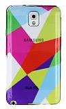 Samsung N9000 Galaxy Note 3 Renkli Prizma �effaf Silikon K�l�f