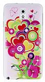 Samsung N9000 Galaxy Note 3 Ta�l� Renkli Kalpler Ultra �nce Silikon K�l�f