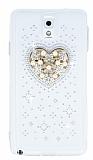 Samsung N9000 Galaxy Note 3 Ta�l� Kalp �effaf Silikon K�l�f