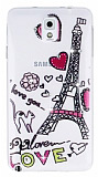Samsung N9000 Galaxy Note 3 Ta�l� Paris Love Ultra �nce Silikon K�l�f