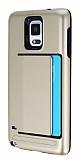 Samsung N9100 Galaxy Note 4 Kartlıklı Ultra Koruma Gold Kılıf
