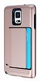 Samsung N9100 Galaxy Note 4 Kartlıklı Ultra Koruma Rose Gold Kılıf