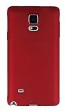 Samsung N9100 Galaxy Note 4 Mat Kırmızı Silikon Kılıf