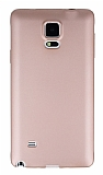 Samsung N9100 Galaxy Note 4 Mat Rose Gold Silikon Kılıf