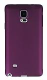 Samsung N9100 Galaxy Note 4 Mat Mürdüm Silikon Kılıf