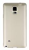 Samsung N9100 Galaxy Note 4 Mat Gold Silikon Kılıf