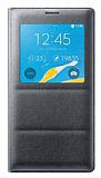 Samsung N9100 Galaxy Note 4 Orjinal Pencereli View Cover Dark Silver Kılıf