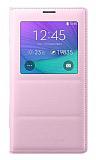 Samsung N9100 Galaxy Note 4 Orjinal Pencereli View Cover Pembe Kılıf