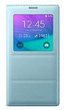 Samsung N9100 Galaxy Note 4 Orjinal Pencereli View Cover Mavi Kılıf