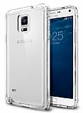 Samsung N9100 Galaxy Note 4 Şeffaf Silikon Kenarlı Rubber Kılıf