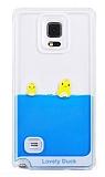 Samsung N9100 Galaxy Note 4 Sulu Ördek Rubber Kılıf