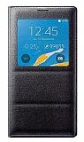 Samsung N9100 Galaxy Note 4 Uyku Modlu Pencereli Siyah Kılıf