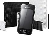 Samsung S5253 Wave 525 Beyaz Delikli K�l�f