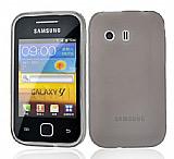 Samsung S5360 Galaxy Y �effaf Siyah Silikon K�l�f