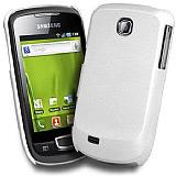 Samsung S5570 Galaxy Mini Sert Parlak Beyaz Rubber K�l�f