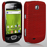 Samsung S5570 Galaxy Mini Bordo Delikli K�l�f