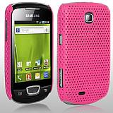 Samsung S5570 Galaxy Mini Pembe Delikli K�l�f