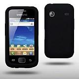 Samsung S5660 Galaxy Gio Siyah Silikon K�l�f