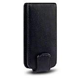 Samsung S5660 Galaxy Gio Siyah Kapakl� Deri K�l�f