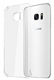 Samsung S7 Edge Tam Kenar Koruma Şeffaf Rubber Kılıf
