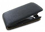 Samsung S7562 / S7560 / S7580 Kapakl� Siyah Deri K�l�f