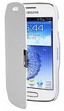 Samsung S7562 / S7560 / S7580 �nce Yan Kapakl� Beyaz K�l�f