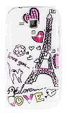 Samsung S7562 / S7560 / S7580 Ta�l� Paris Love Ultra �nce Silikon K�l�f