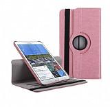 Samsung SM-T320 Galaxy Tab PRO 8.4 360 Derece Döner Standlı Pembe Kılıf