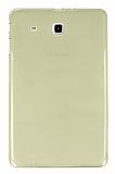 Samsung T560 Galaxy Tab E Şeffaf Gold Silikon Kılıf