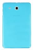 Samsung T560 Galaxy Tab E Şeffaf Mavi Silikon Kılıf