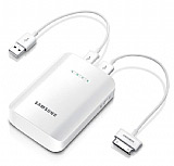 Samsung Orjinal Universal Ta��nabilir Powerbank USB Yedek Beyaz �arj �nitesi (9000mAh)