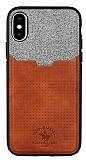 Santa Barbara Tasche Series iPhone X Kartlıklı Kahverengi Kılıf